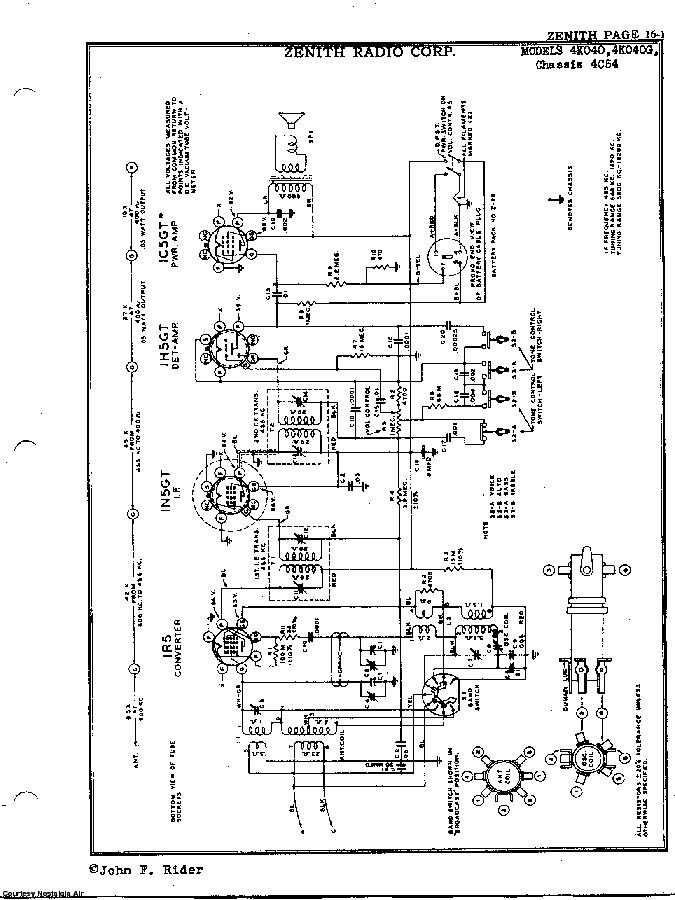 ZENITH 4K040 SCH Service Manual download, schematics