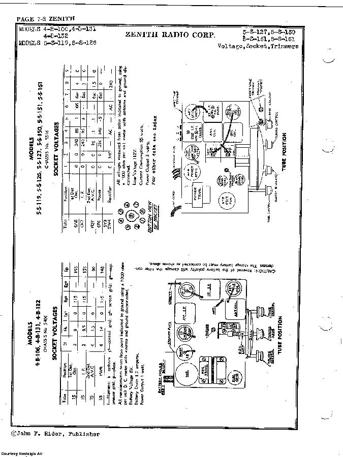 ZENITH 5-S-161 SCH Service Manual download, schematics