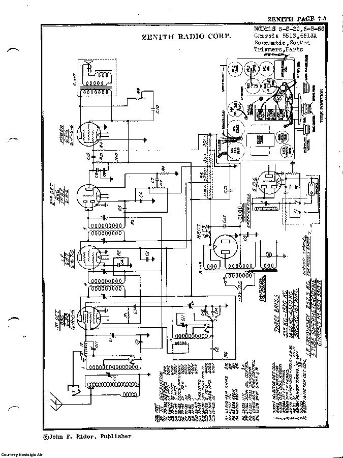 ZENITH 5-S-29 SCH Service Manual download, schematics