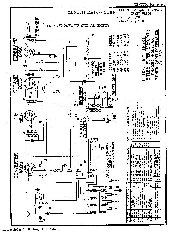 ZENITH 5R317 SCH Service Manual download, schematics