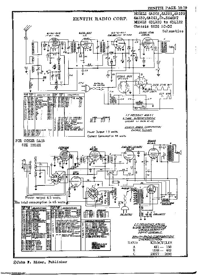 ZENITH 6DL120 SCH Service Manual download, schematics