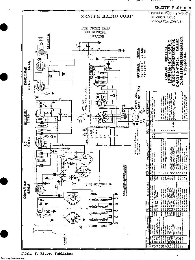 ZENITH 6J322 SCH Service Manual download, schematics