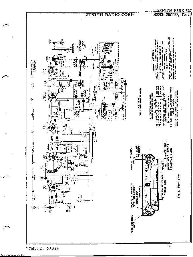 ZENITH 6MF780 SCH Service Manual download, schematics