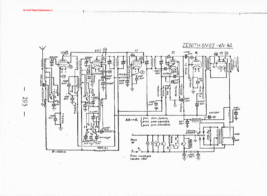 ZENITH H 500 Service Manual free download, schematics