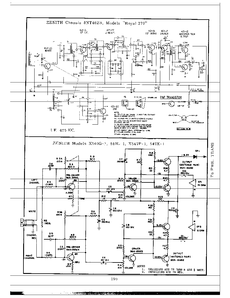 ZENITH 6S632,6S646 SCH Service Manual download, schematics