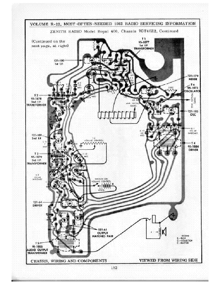 ZENITH ROYAL400 Service Manual download, schematics