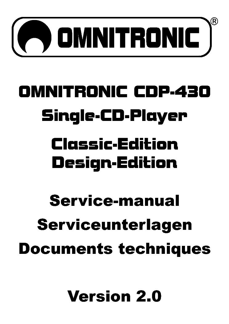 OMNITRONIC EX-530 MIXER SM Service Manual download