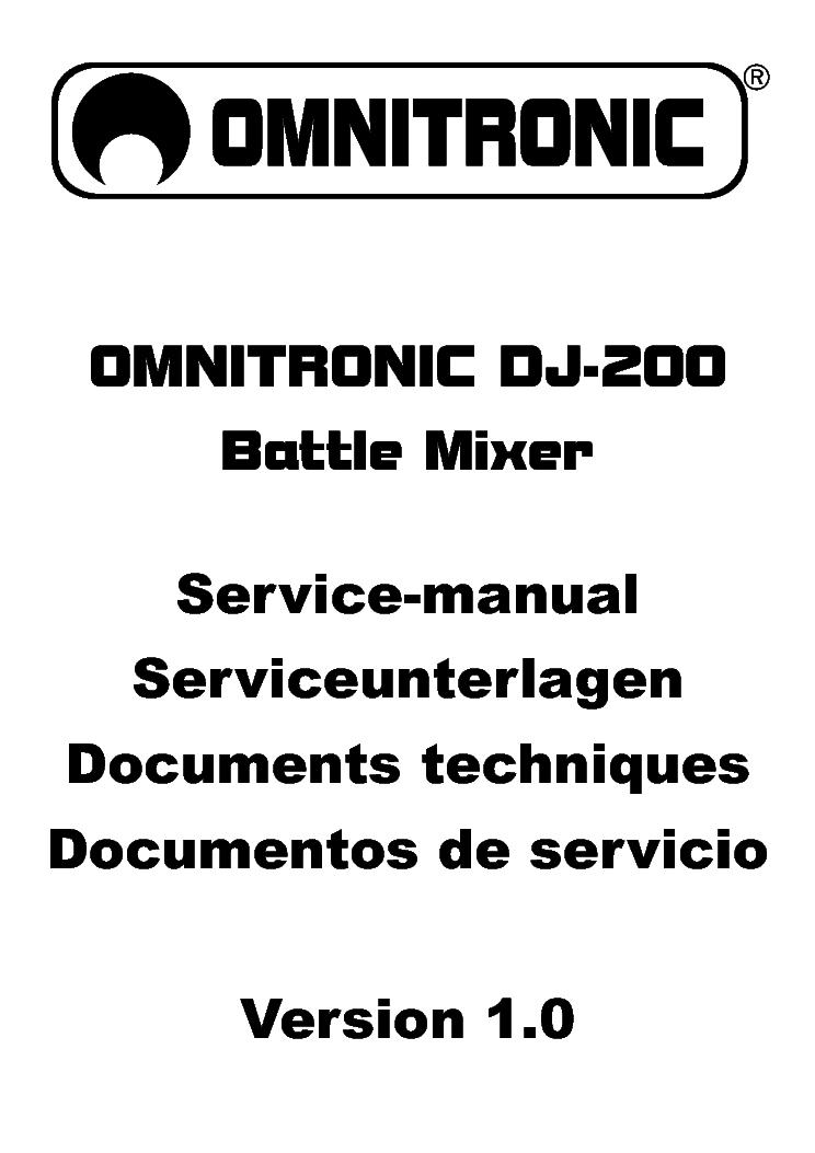 OMNITRONIC P1500[1] SCH Service Manual download
