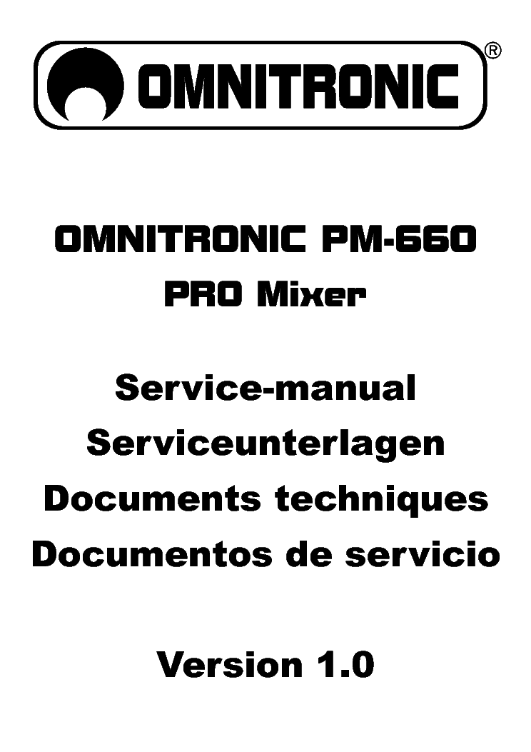 OMNITRONIC PM 660 PRO MIXER Service Manual download