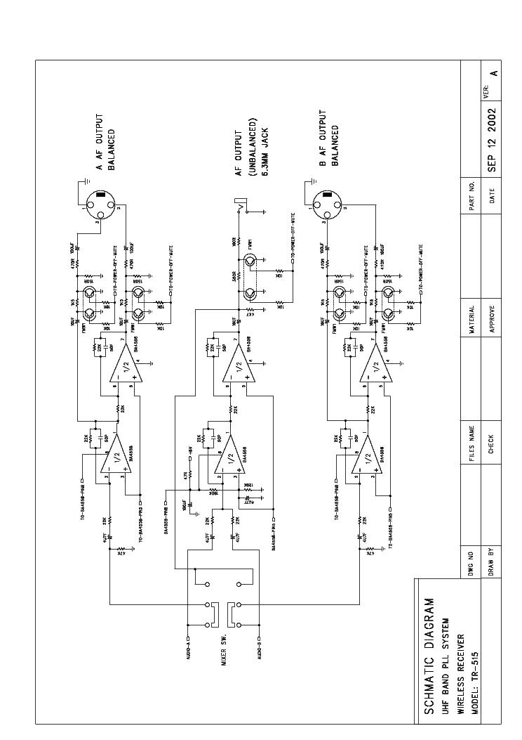 OMNITRONIC TR515 Service Manual download, schematics