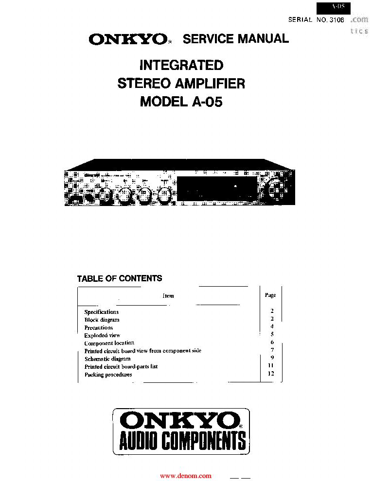 ONKYO P-301 SM Service Manual free download, schematics