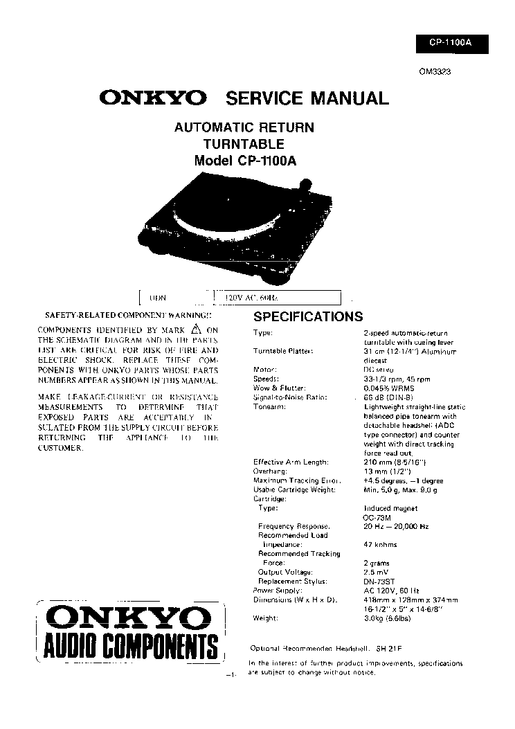 ONKYO TX SR506 SCH Service Manual free download