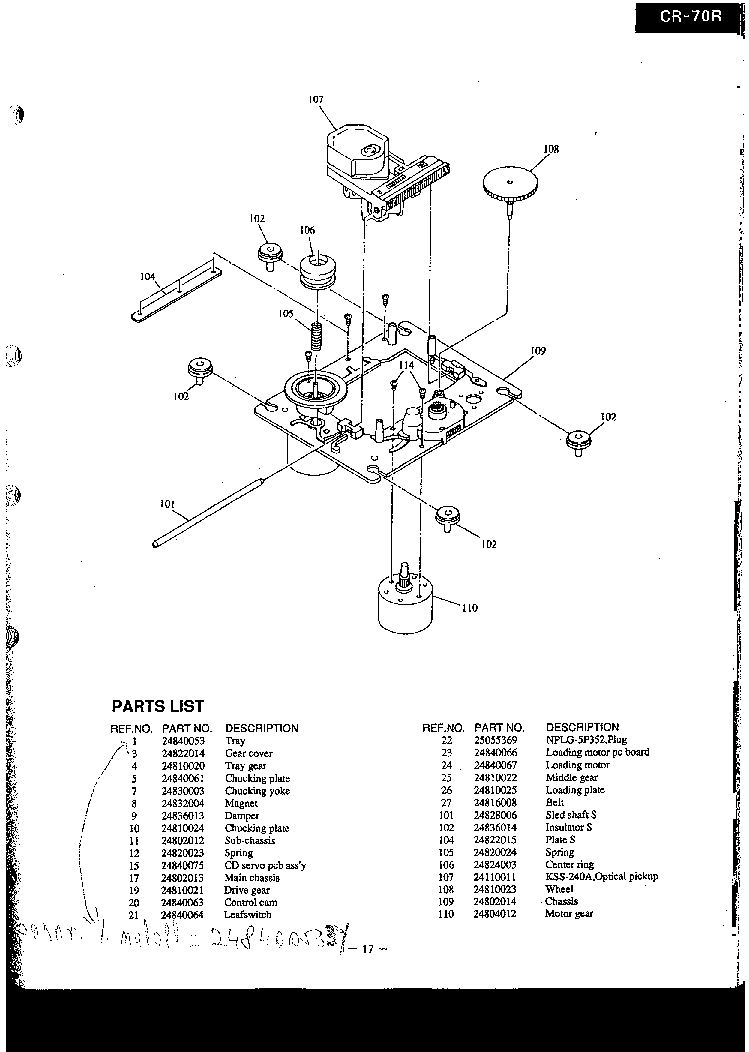ONKYO CR-70R Service Manual download, schematics, eeprom