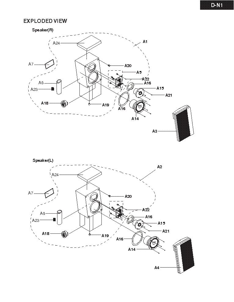 ONKYO DN1 SM Service Manual download, schematics, eeprom
