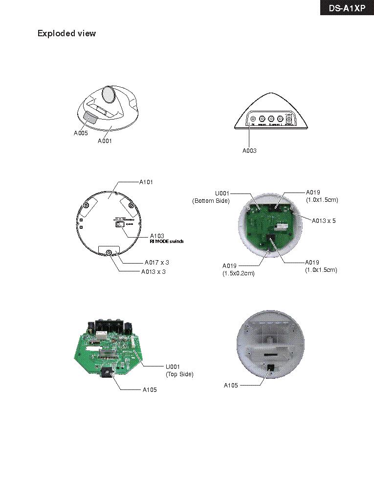 ONKYO DS-A1XP REV-1 SM Service Manual download, schematics