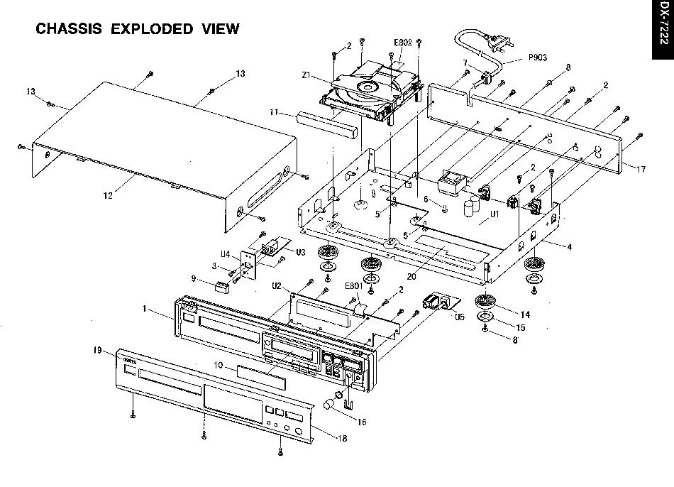 ONKYO DX-7222 Service Manual download, schematics, eeprom
