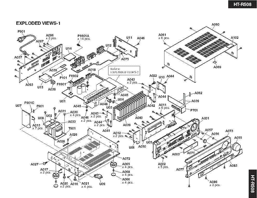ONKYO HT-R508 SM Service Manual download, schematics