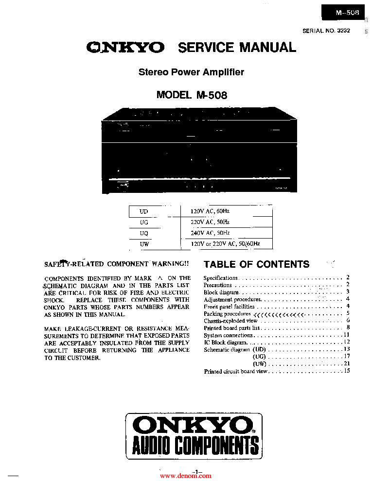 ONKYO DX-3700 SM Service Manual free download, schematics