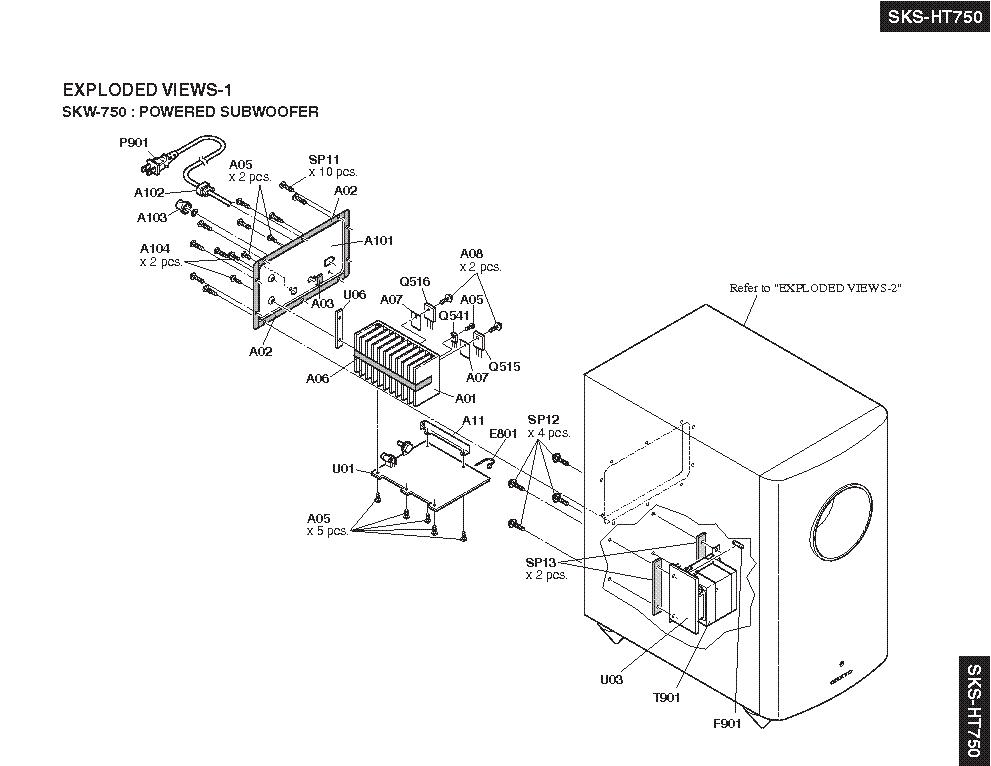 ONKYO SKS-HT750-B SKW-750 SKM-750S SKC-750C SKB-750 SM