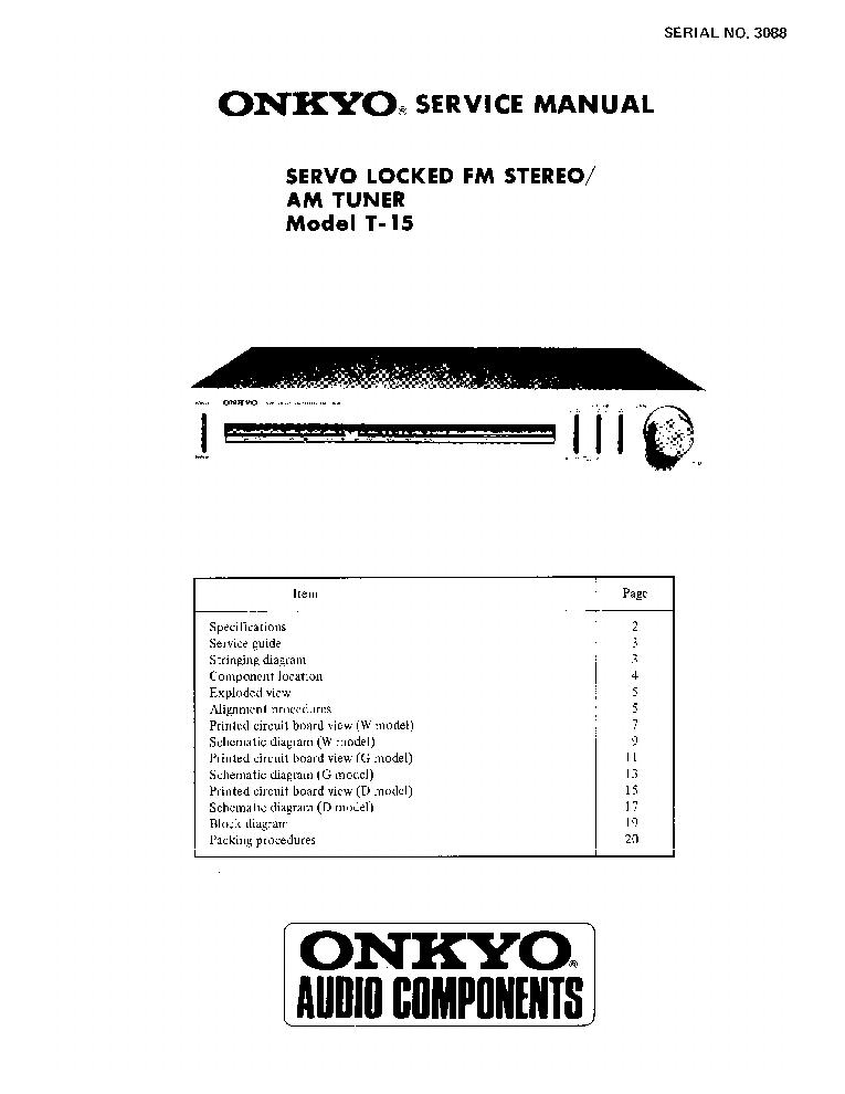 ONKYO TX-88 SCH 2 Service Manual download, schematics