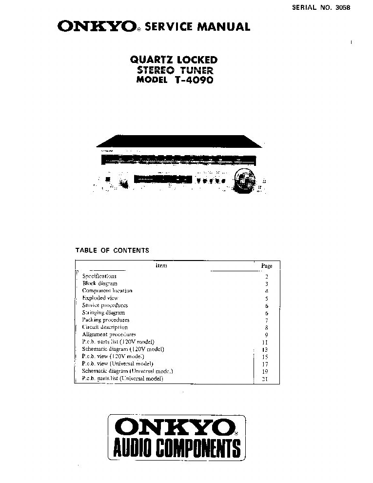 ONKYO TX-DS575X-SCH Service Manual free download