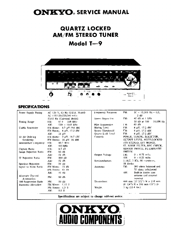 ONKYO TA-R22-SM-TAPE-DECK Service Manual download