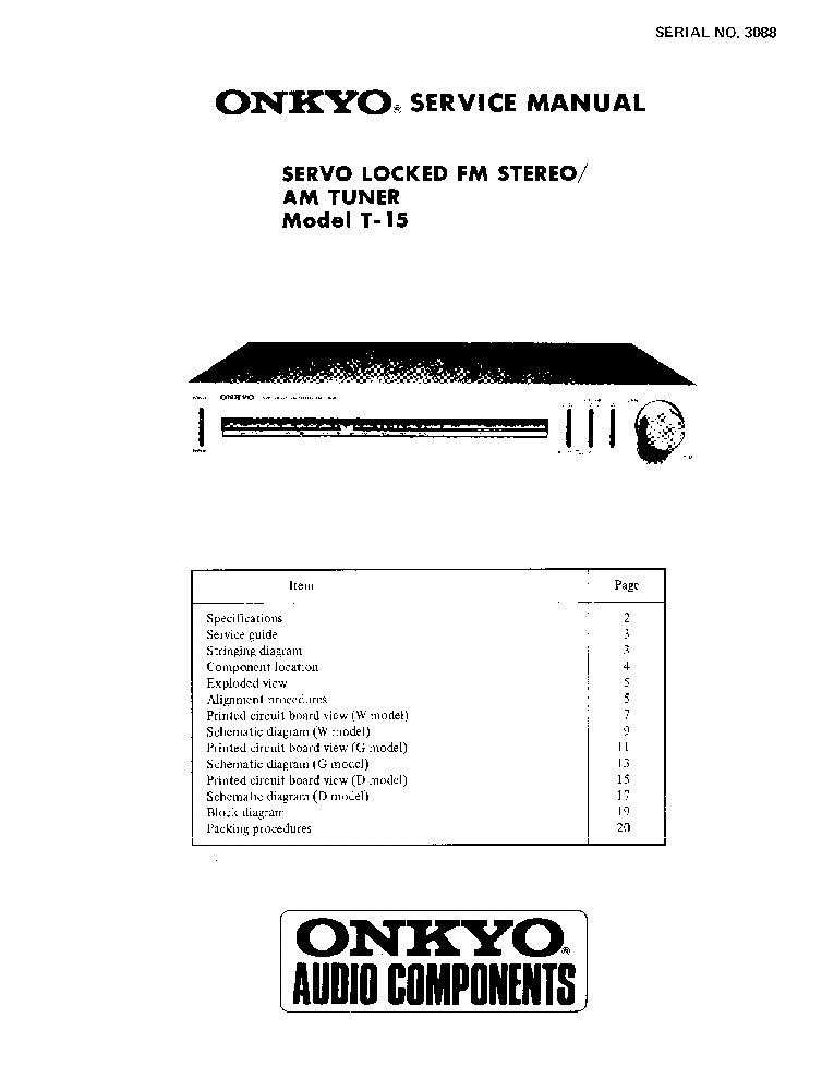 ONKYO M-5030 SM Service Manual free download, schematics