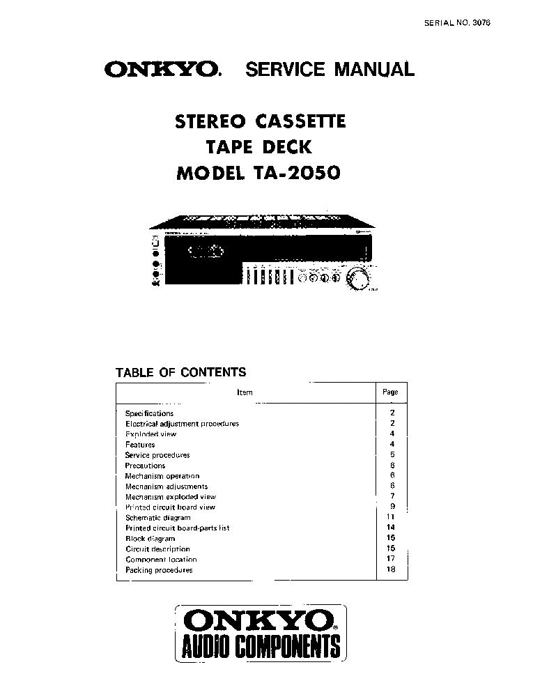 ONKYO TA-2050-SM-TAPE-DECK Service Manual download