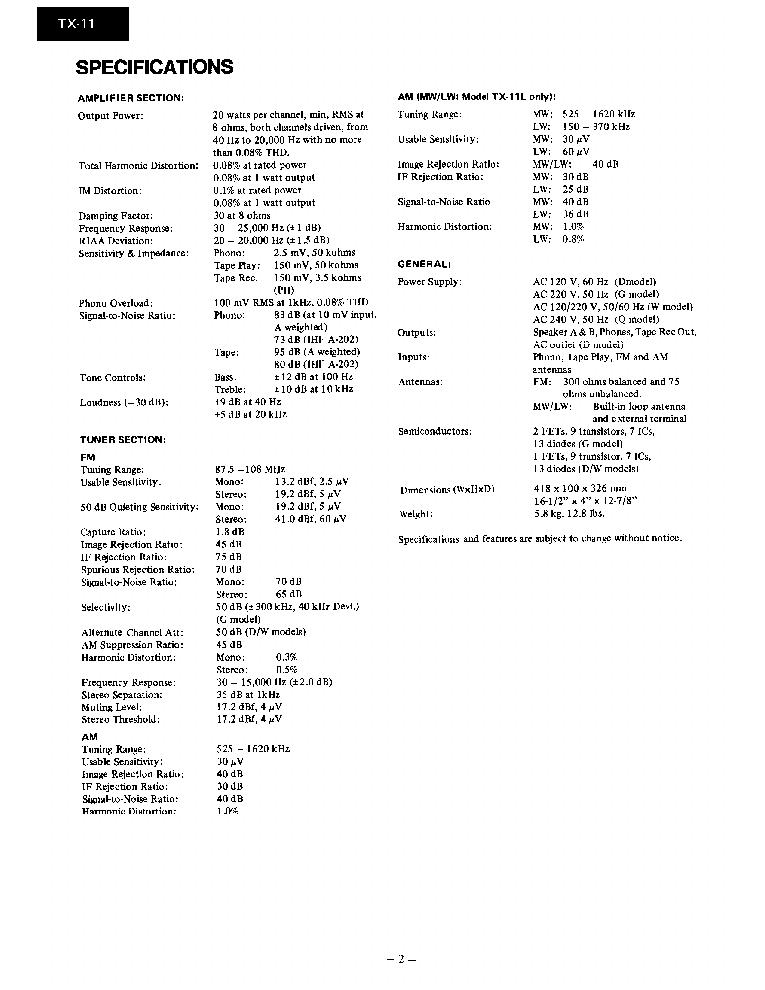 ONKYO TX-11 TX-11L-SM-RECEIVER Service Manual download