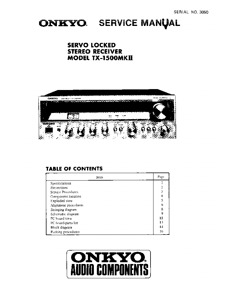 ONKYO TX-DS989-SUPP-SM Service Manual download, schematics