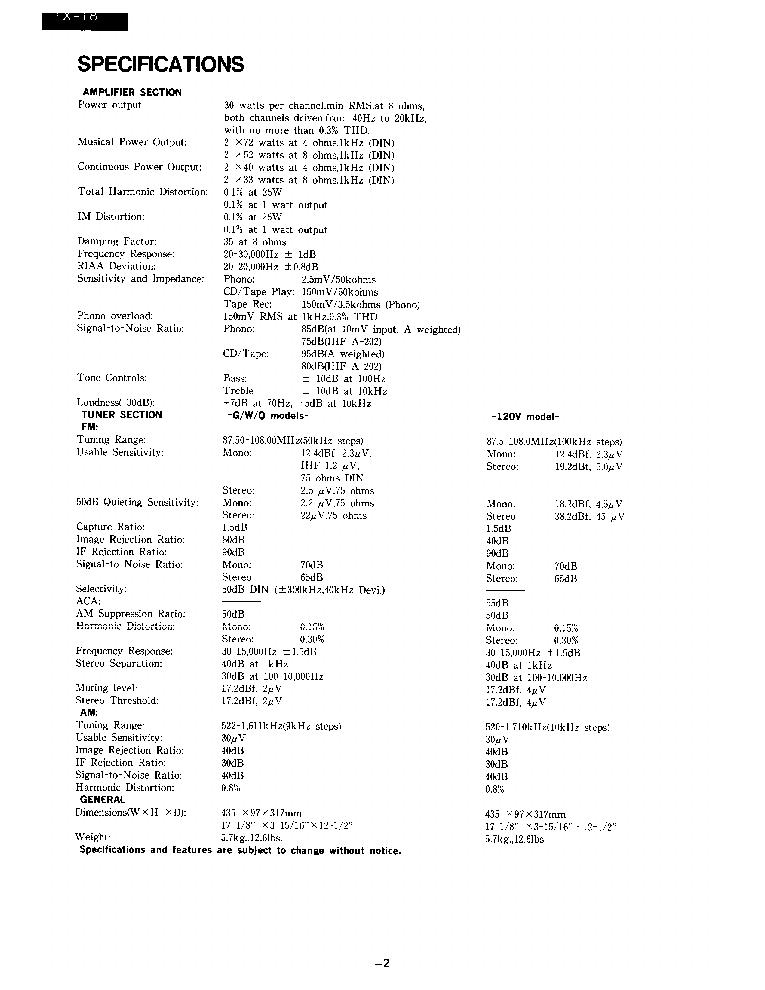 ONKYO TX-18-SM-TUNER-AMP Service Manual download