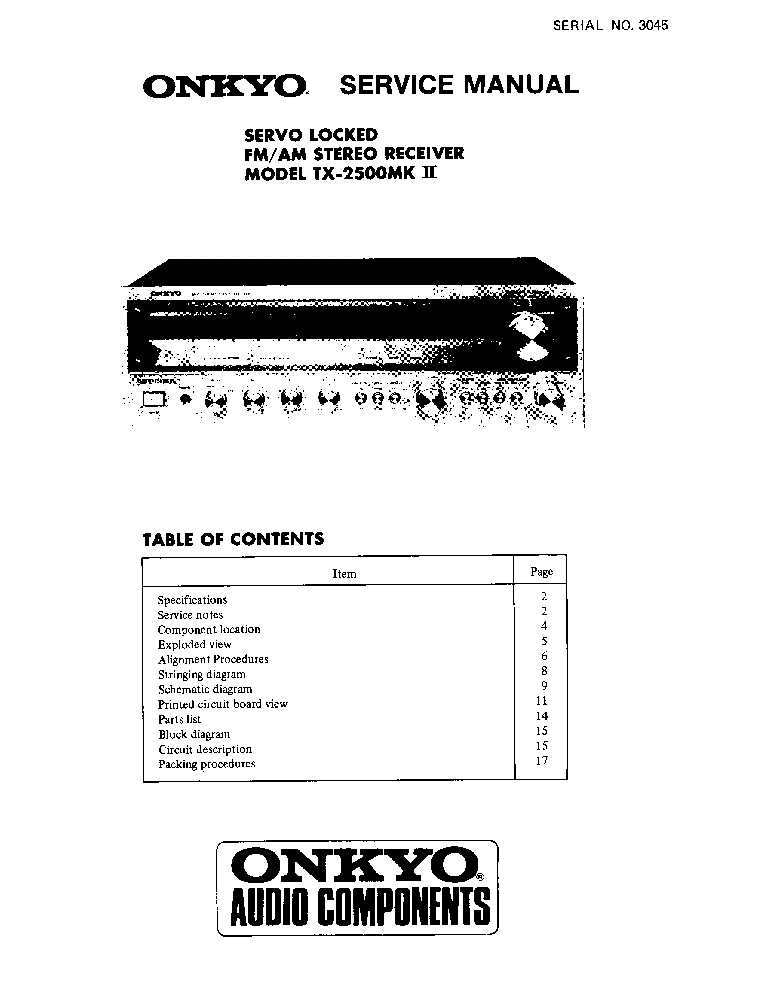 ONKYO A-9377-B-S SM Service Manual free download