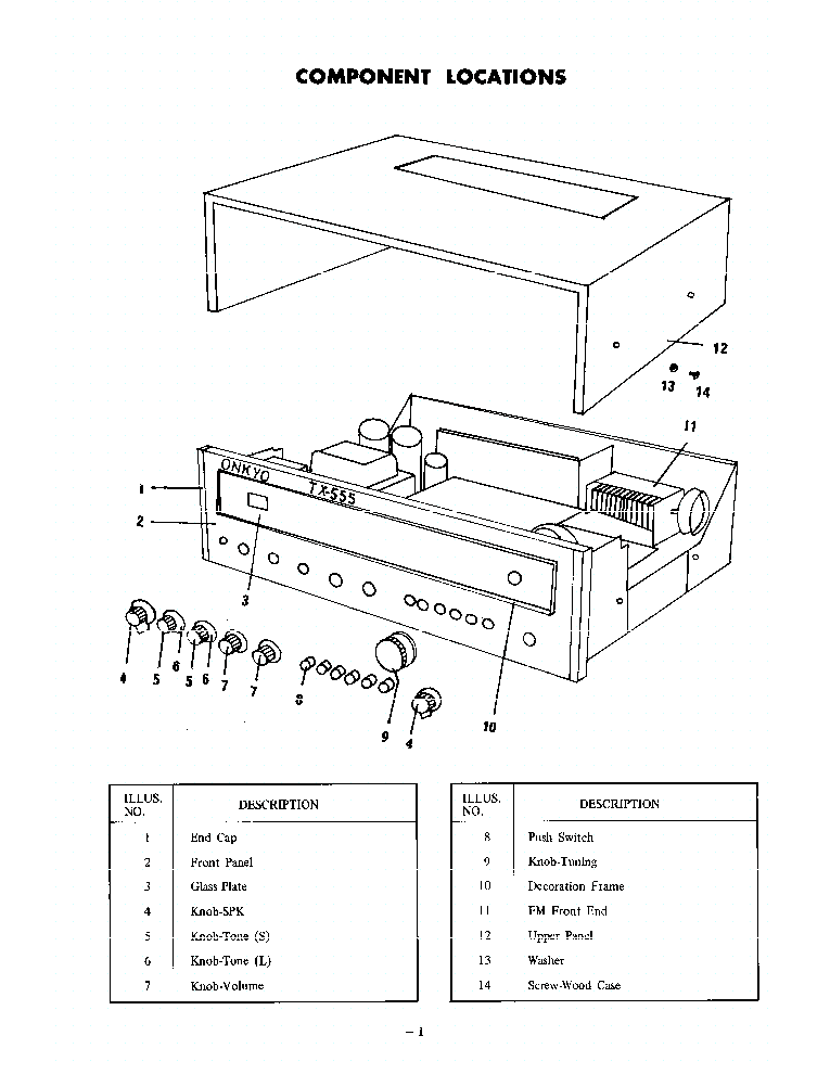 ONKYO TX-555-SM-RECEIVER Service Manual download