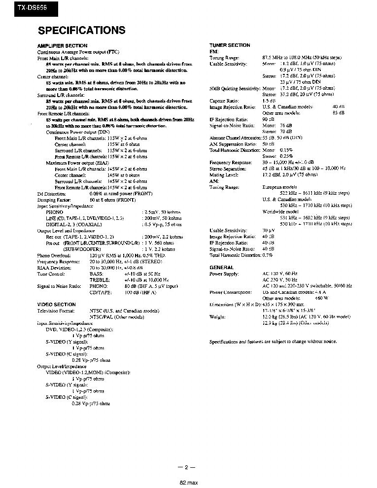ONKYO TX-DS555 656 Service Manual download, schematics