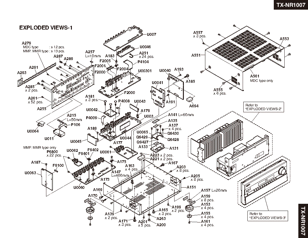 ONKYO TX-NR1007 FULL Service Manual download, schematics