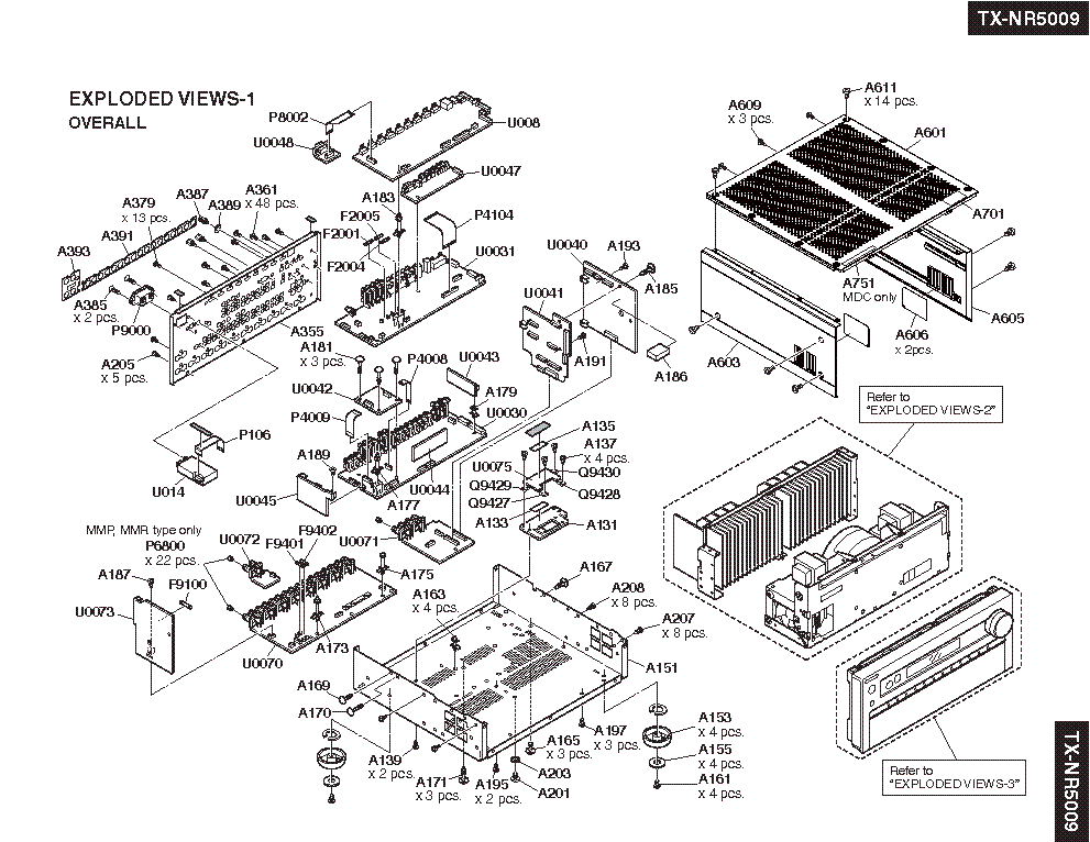 ONKYO TX-NR5009 Service Manual download, schematics