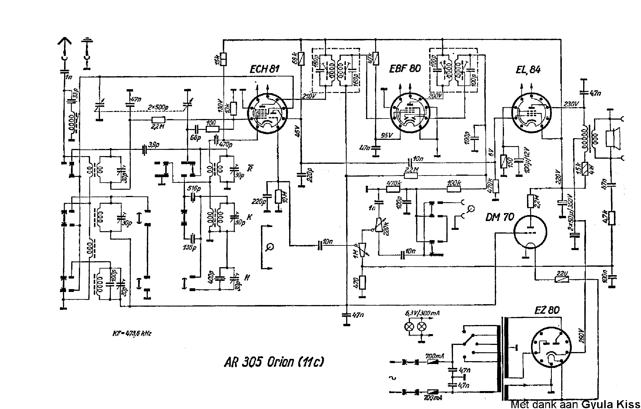 ORION AR305 Service Manual download, schematics, eeprom