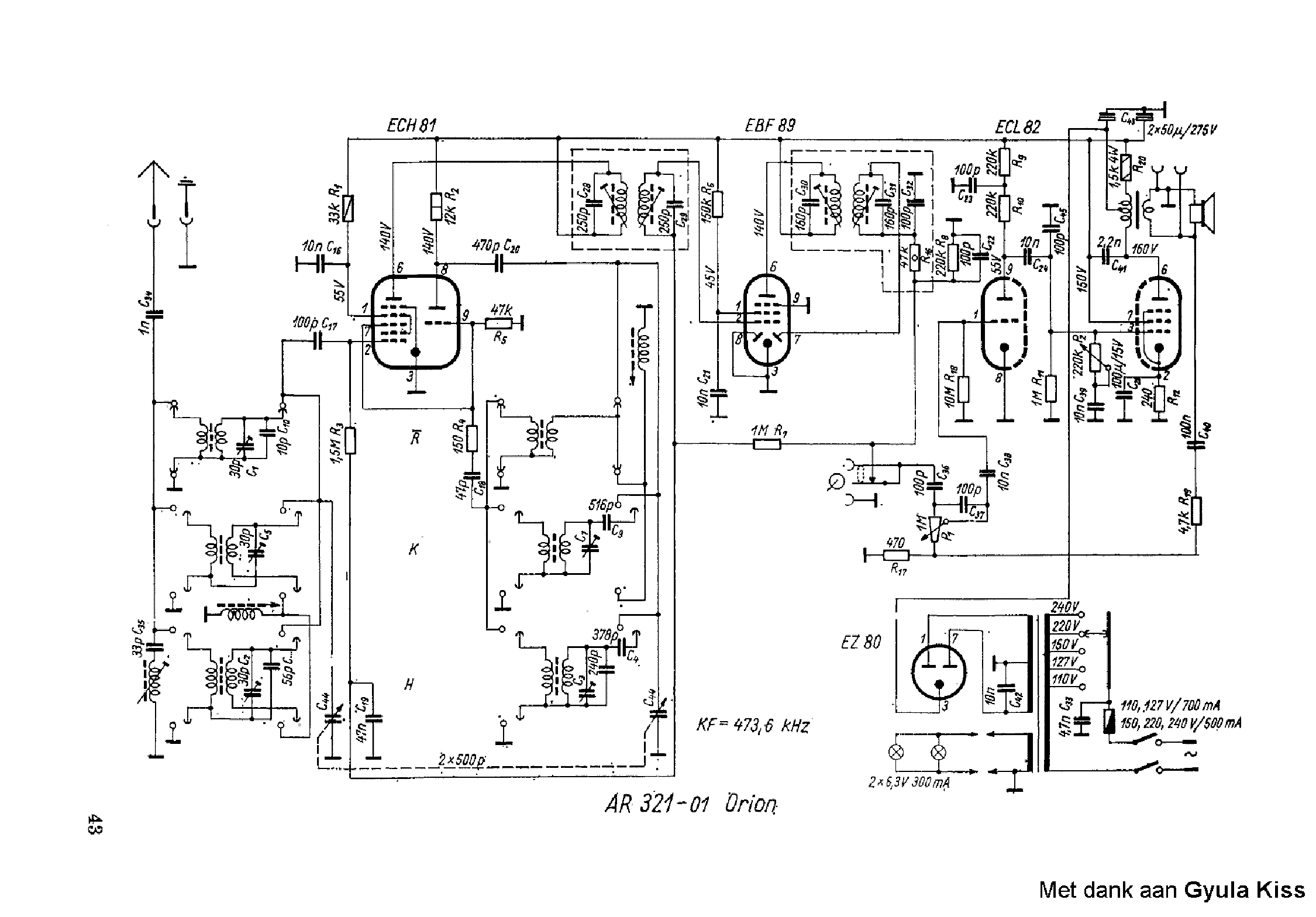 ORION AR321 Service Manual download, schematics, eeprom