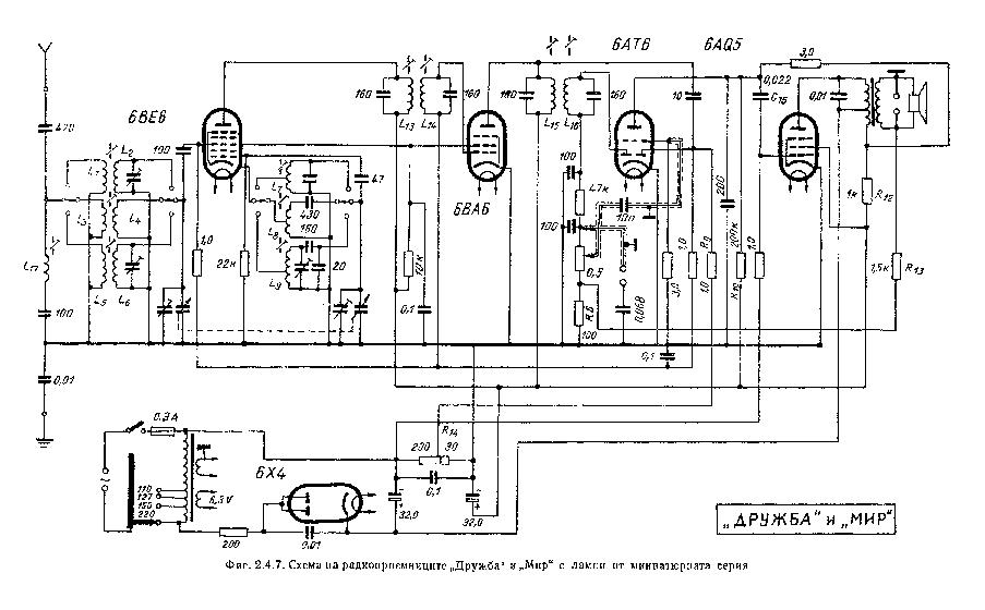 OROSZ USSR DRUZSBA MIR-MINIATURE-TUBES-RADIO Service