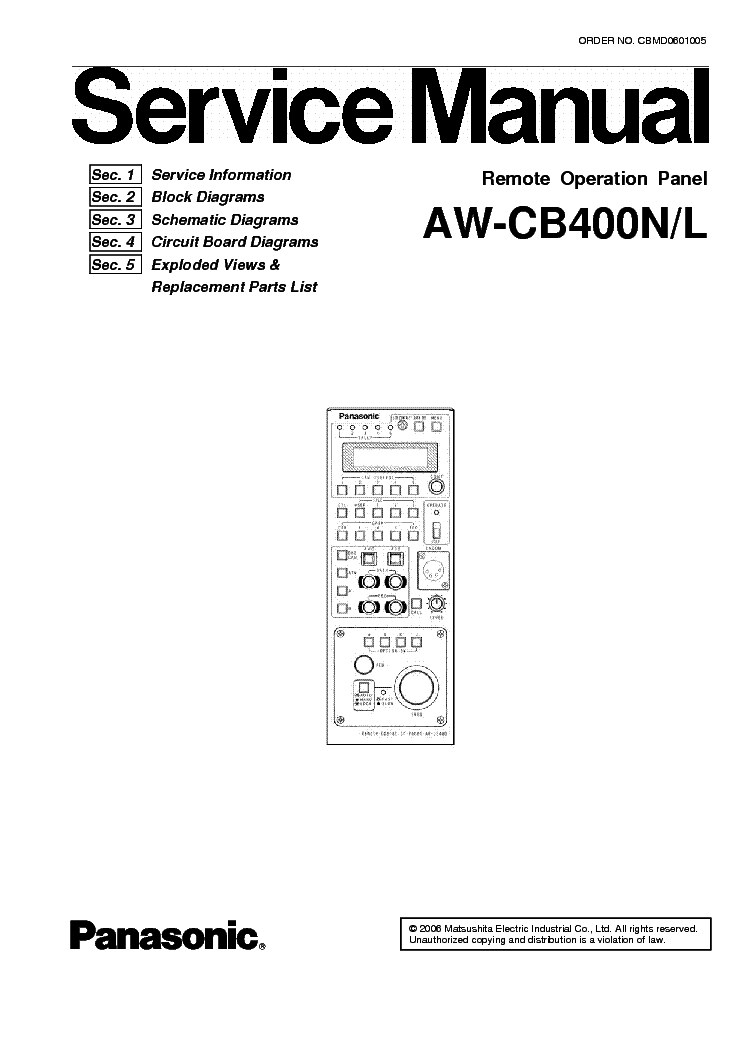 PANASONIC SA-VK480EE Service Manual download, schematics