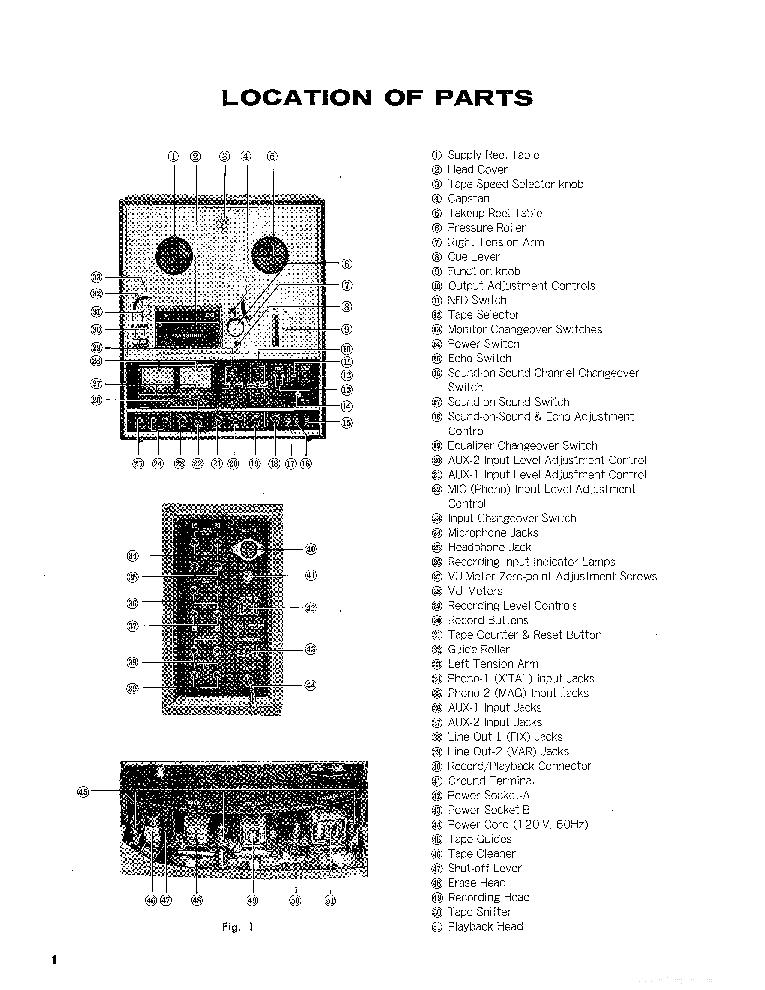 PANASONIC RS-736US Service Manual download, schematics