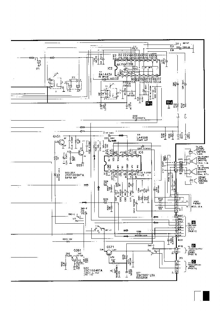 PANASONIC RX-CT820 Service Manual download, schematics