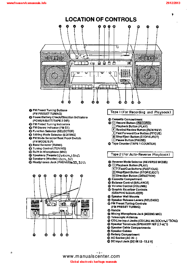PANASONIC RX-CW43 Service Manual download, schematics