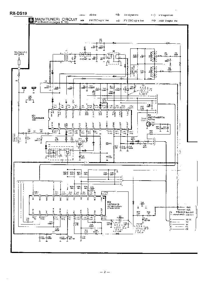 PANASONIC RX-DS19 SM Service Manual download, schematics