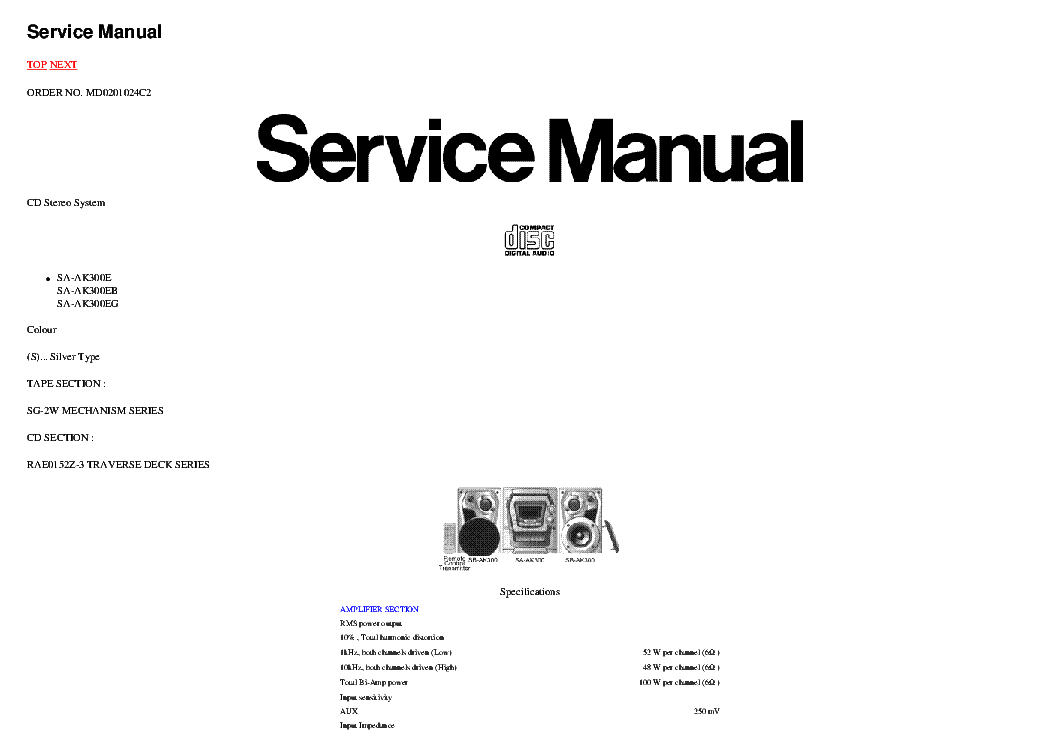 PANASONIC RQ-V201 SCH Service Manual free download