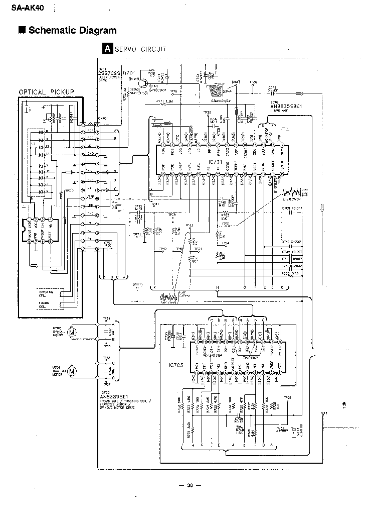 PANASONIC SA-AK40 Service Manual download, schematics