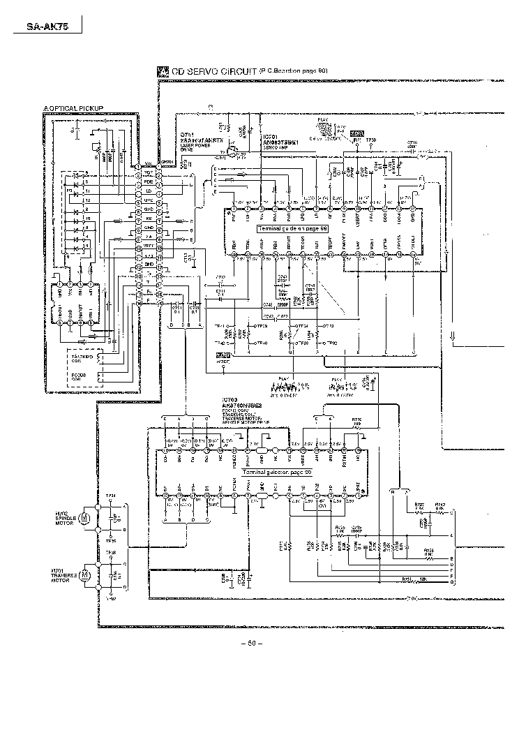 PANASONIC SA-AK75 Service Manual download, schematics
