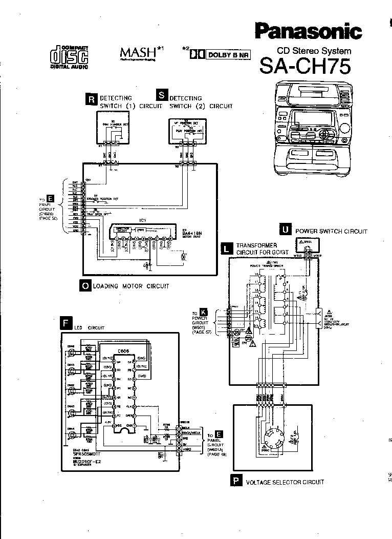 PANASONIC SA-CH75 Service Manual download, schematics