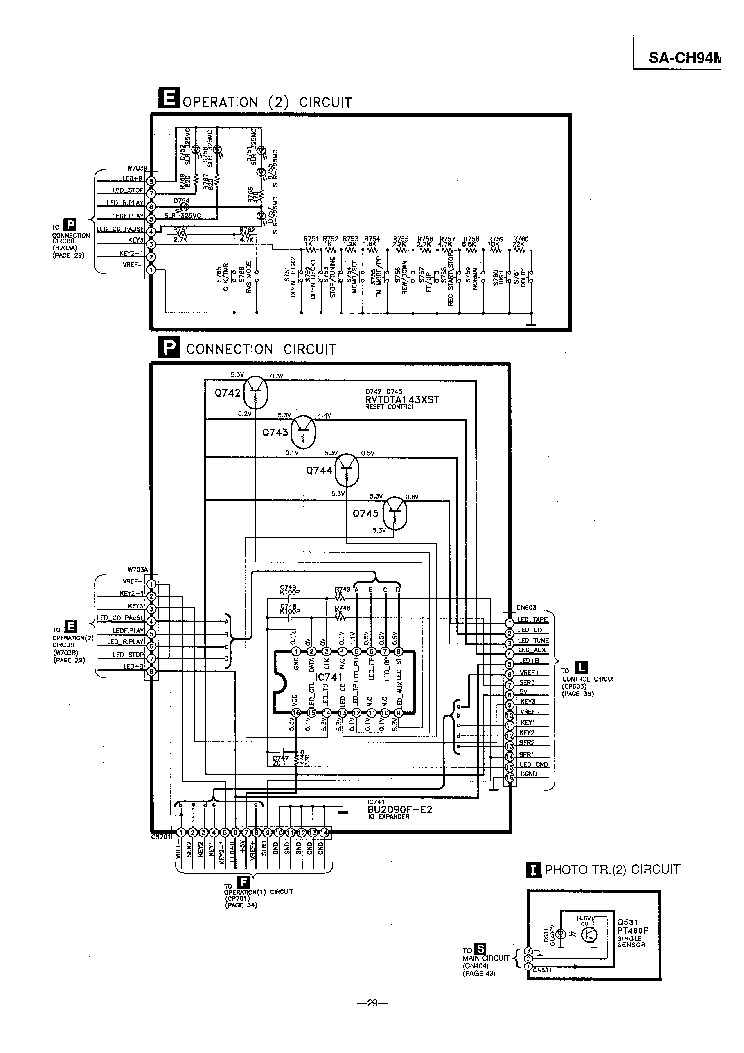 PANASONIC SA-CH94M SCH Service Manual download, schematics