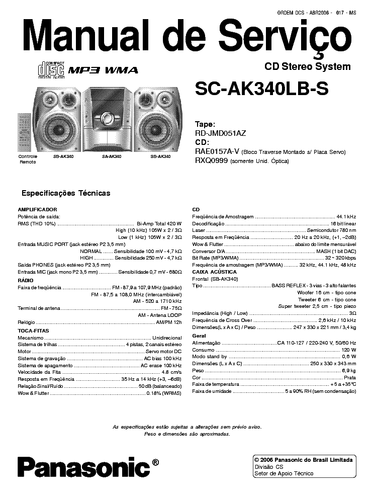 PANASONIC SC-AK340LB-S SCH Service Manual download